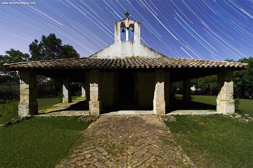 Star Trail Chiesetta Sa Defentza, DONORI - Sardegna