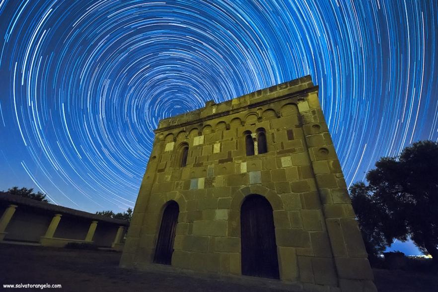 Star Trail Chiesetta Santa Maria di Sibiola, SERDIANA - Sardegna